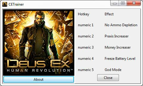 deuhumanrevolutionbetat Deus Ex: Human Revolution Beta +5 Trainer